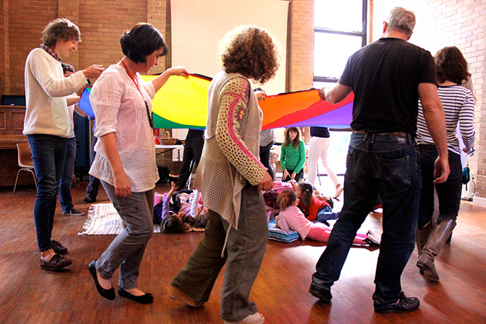Image 32 Rainbow parachute for 'Somewhere over the rainbwow'