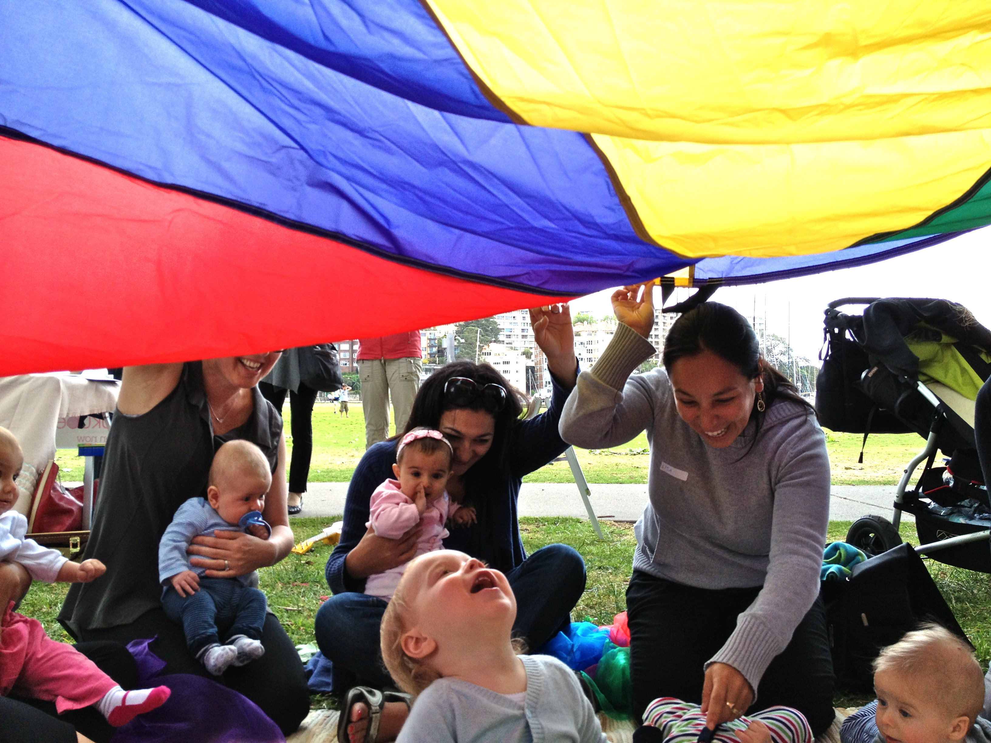 Image 08 'Shoo fly' song with the parachute…loads of fun!